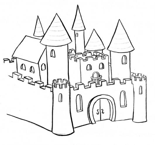 Castillodeprincesa Para Pintar Y Colorear Un Castillo De Princesas