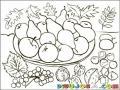 Platodefrutas Dibujo De Comida Organica Un Plato De Frutas Con Peras Y Manzanas Para Pintar Y Colorear Comidaorganica