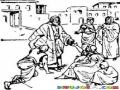MilagrosdeJesus Dibujode JESUS Haciendo Milagros Y Sanando Gente Para Pintar Y Colorear