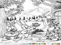 Diadelamadre Dibujo De Mama Coneja Con Sus Conejitos Celebrando El Dia De La Madre Para Colorear