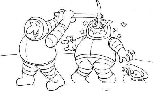 Dibujo De Accidente De Astronauta Para Pintar Y Colorear Accidente ...