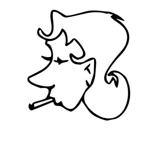 Fumar Es Malo Para La Salud Dibujo De Mujer Con Un Chancuaco