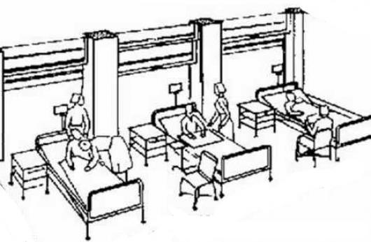 Enfermos En Hospital Con Enfermeras Dibujo De Un Hospitalito Con
