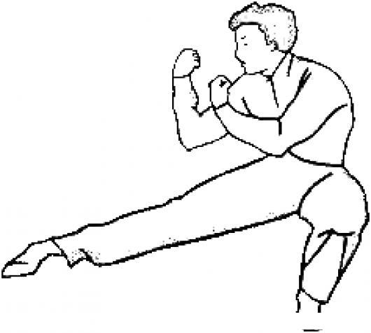 Karateca En Guardi Dibujo De Guardia De Karateka Para Colorear