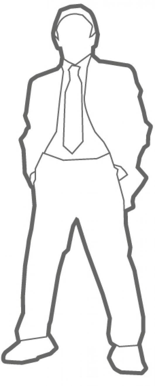 Sacoycorbata Dibujo De Hombre Joven Con Saco Y Corbata Para Pintar