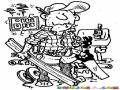 : Milusos Dibujo De Conserje Carpintero Mecanico Pintor Electricista Y Plomero A La Vez Hombre Del Mantenimiento Para Pintar Y Colorear Empleado De Varias Tareas 1000usos
