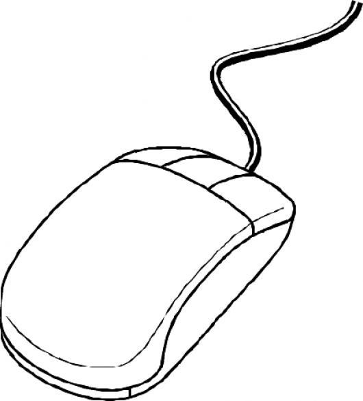 Dibujo De Un Mouse De Computadora Para Colorear | COLOREAR DIBUJOS ...