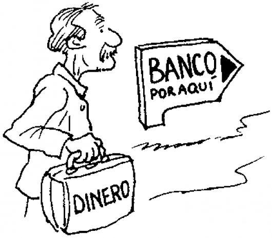 El Ahorro Dibujo De Viejito Ahorrador Llevando Su Dinero Al Banco