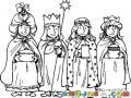 4reyesmagos Dibujo De 4 Reyes Magos Para Pintar Y Colorear Cuatroreyes