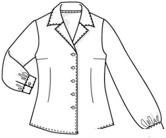 Dibujos De Ropa Para Colorear E Imprimir: Dibujos De Blusas Para Colorear