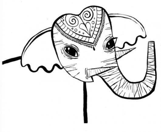 Elefante De India Para Colorear | COLOREAR DIBUJOS VARIOS | Elefante ...