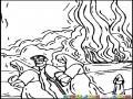 Genesis Capitulo 19 Sodomaygomorra Dibujo De Lot Hermano De Abraham Huyendo De Sodoma Con Sus Dos Hija Atras Su Esposa Se Convirtieran En Sal Por Ver Hacia Atras Para Pintar Y Colorear Dibujo Biblico De Lot