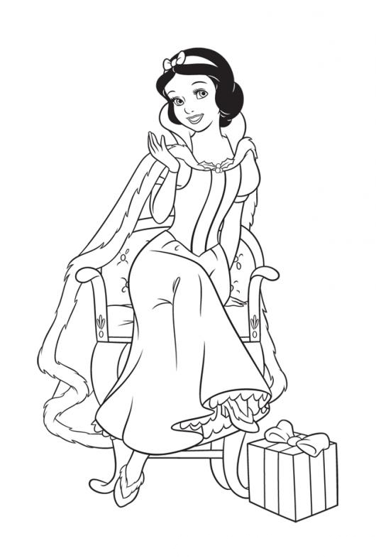 Colorear Blancanieves Dibujo Para Colorear Princesas Para