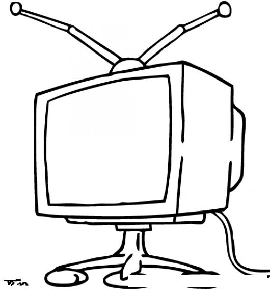Dibujos para pintar de televisores - Imagui