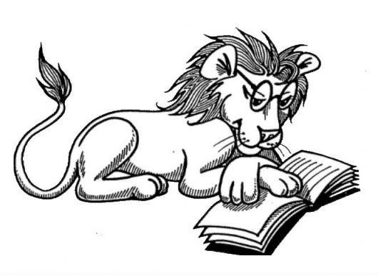 Leonlector Dibujo De Leon Leyendo Un Libro Para Colorear | COLOREAR ...