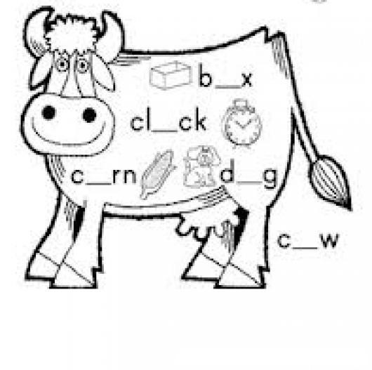 Dibujo Para Aprender Ingles Coloreando Palabras Con La Letra O
