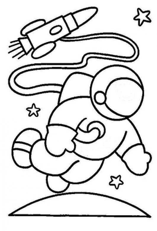 Dibujo De Astronauta Para Pintar Y Colorear   COLOREAR DIBUJOS ...