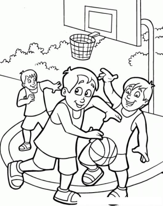 Dibujo De Un Juego De Basquetbol Para Pintar Y Colorear | COLOREAR ...