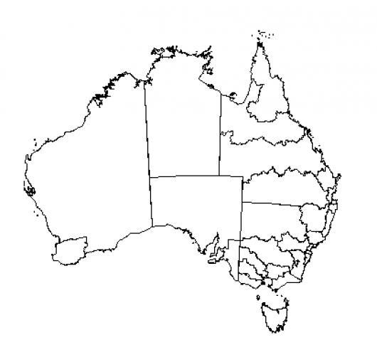 Mapa De Australia Para Pintar Y Colorear   COLOREAR DIBUJOS VARIOS ...