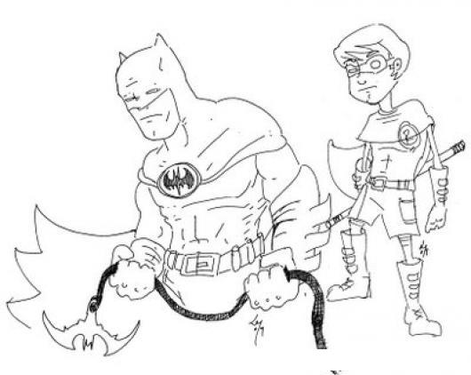 Batman Y Robin Dibujo De Robin Con Batman Para Pintar Y ...