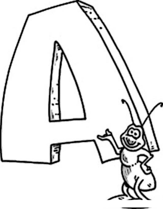 Hormiga En Ingles Se Dice Ant Dibujo De Una Hormiga Con La Letra A