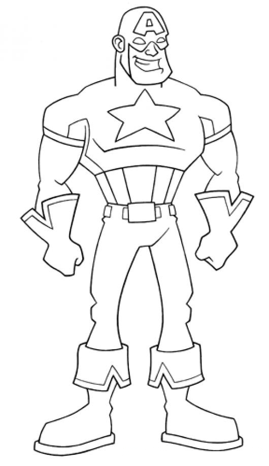 Dibujo Del Capitan America Para Colorear  COLOREAR ...