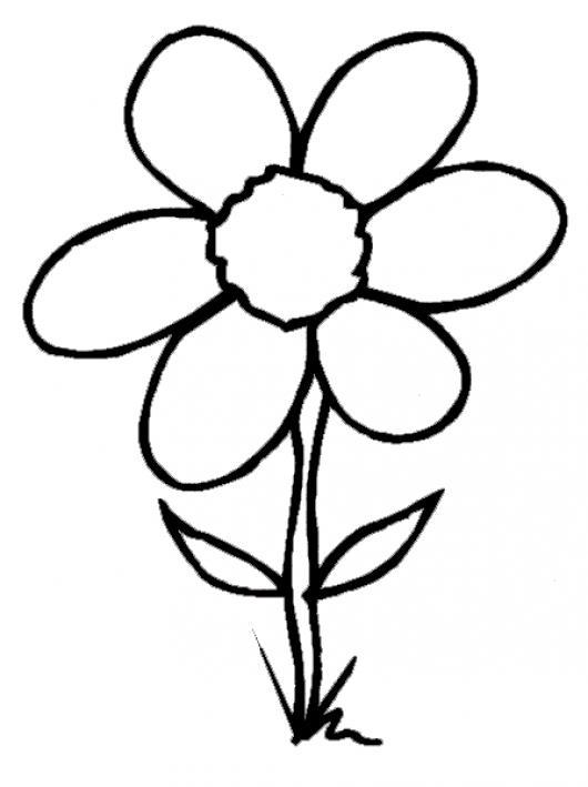 Dibujo De Una Flor Para Colorear | COLOREAR DIBUJOS VARIOS | Dibujo ...