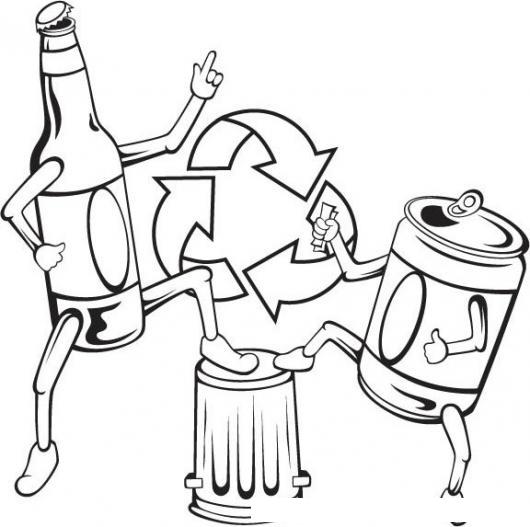 Dibujos Colorear Reciclaje Imagui