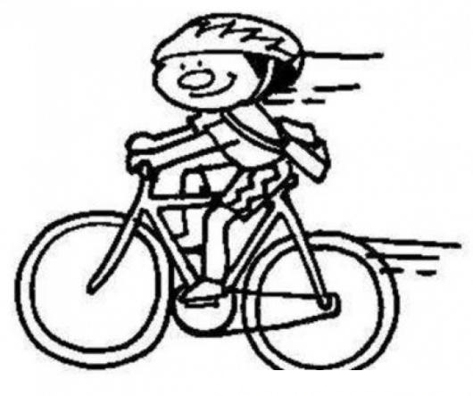 Patojito En Bicicleta Para Pintar Y Colorear Nino En Cicle ...