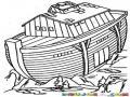 Dibujo Del Arca De Noe Encayada Al Terminar El Diluvio Para Pintar Y Colorear