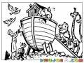 Arca De Noe Dibujo De Noe Impermeabilizando El Arca Para Pintar Y Colorear