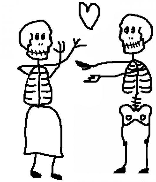 Al Fin Juntos Para Pintar Y Colorear Dibujo De Un Amor Platonico