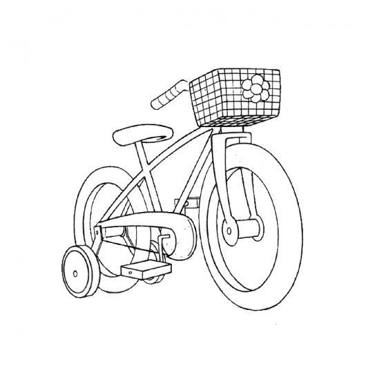 Bicicleta Con Llantitas Para Pintar Y Colorear Bicicleta De Nena Con ...