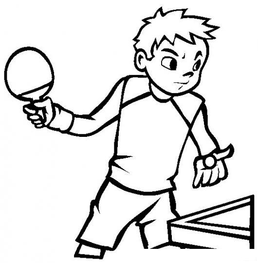 Pingponero Dibujo De Un Jugador De Ping Pong Para Pintar Y