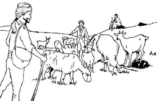 Pastoreando Ovejas Dibujo De Pastores De Ovejas Para Pintar Y