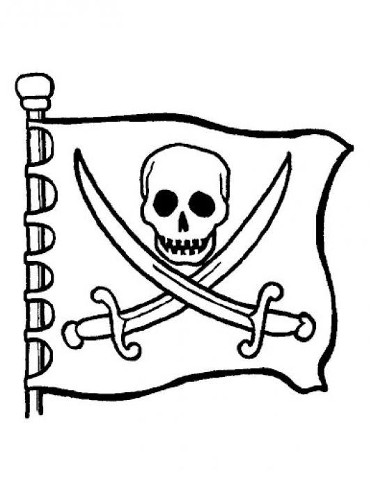 Bandera De Piratas Para Pintar Y Colorear Escudo Pirata | COLOREAR ...