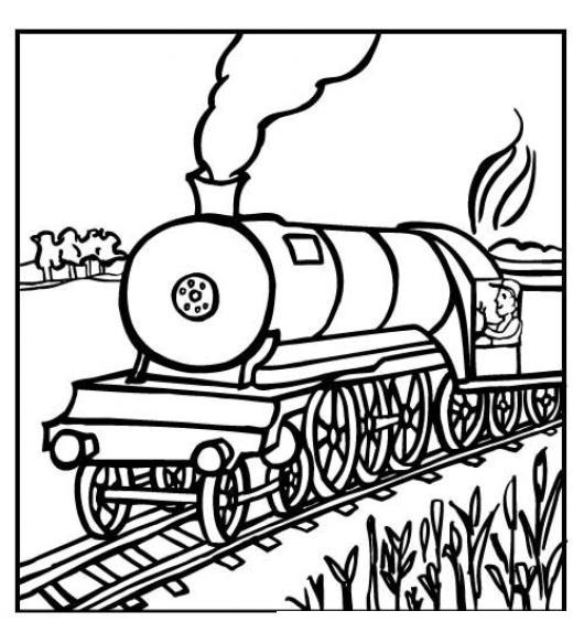 Dibujo De Locomotora Para Pintar Y Colorear Un Tren Colorear