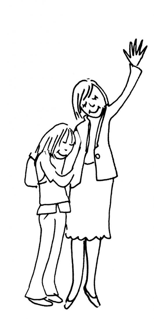 Imagenes De Mama E Hija Para Colorear Amor De Madre E Hija Dibujos