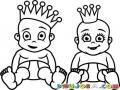 Bebe Principe Y Baba Princesa Para Pintar Y Colorear Dibujo De Prinicipito Y Princesita Bebes