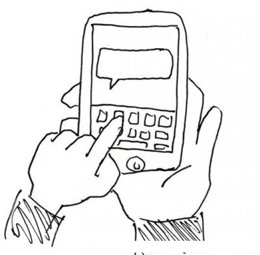 Dibujo De Celular Con Teclado Qwerty Para Pintar Y Colorear Telefono