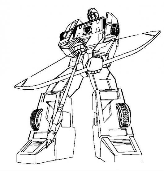 Dibujo De Transformer Con Arco Y Flecha Para Pintar Y Colorear