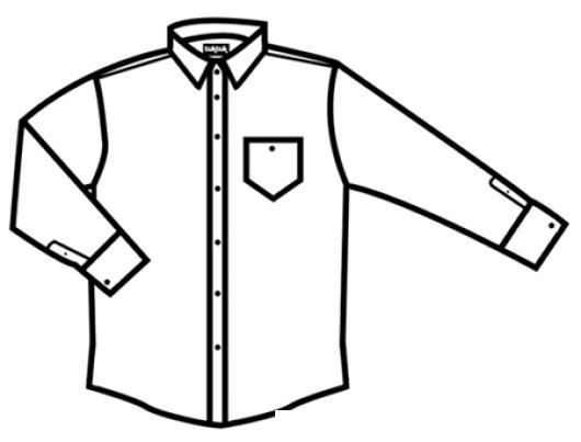 Dibujo De Camisa Planchada Y Sin Arrugas Para Pintar Y Colorear