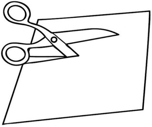 Dibujo de una tijera cortando un papel para pintar y for Papel de pared para pintar