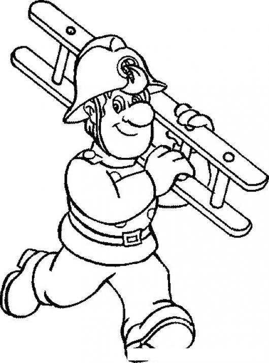 colorear bombero con escalera colorear dibujos de cholo dibujo de un bombero corriendo con una escalera para pintar y colorear dibujosacom