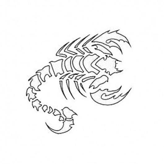Plantilla De Tatuaje De Escorpion Para Imprimir Y Recortar