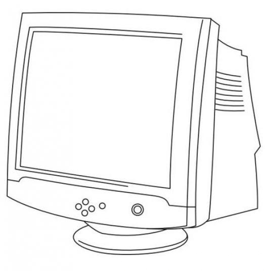 dibujo del monitor de la computadora para pintar
