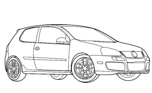 Dibujo De Volkswagen Golf Hatchback De 2 Puertas Para ...