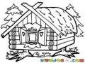 Casa Con Patas De Gallina Para Pintar Y Colorear