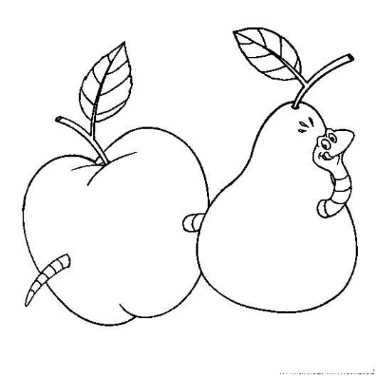 Dibujos De Manzanas Para Colorear Excellent Manzana Con Gusano