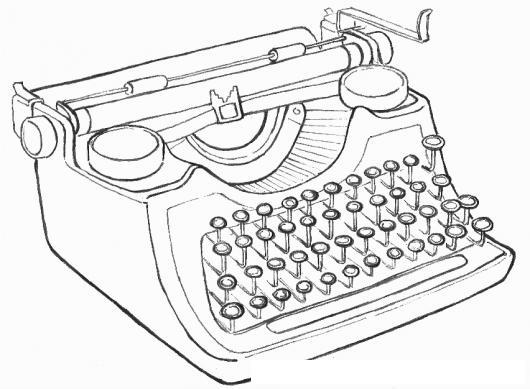 Dibujo de maquina de escribir imagui - Maquinas para pintar ...